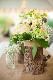 wood log vases wedding table decorations search projects to