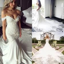african mermaid wedding dresses 2017 new off shoulder bling