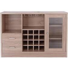 kitchen storage cabinets lowes benzara wooden server with one side door storage cabinets in