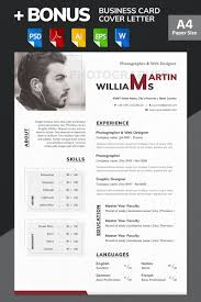 Web Design Resume Template Martin Williams Photographer U0026 Web Designer Resume Template 65617
