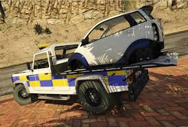 range rover truck 2016 land rover defender recovery truck with car unlocked gta5