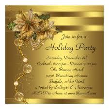 gold black christmas party invitations u0026 announcements zazzle