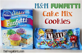 funfetti cookie mix in a jar the frugal girls