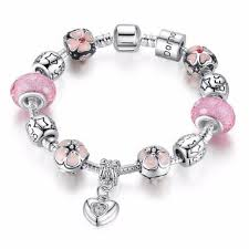 murano glass beads bracelet silver images Youniq 925s silver plated charm bracelet pink murano glass beads jpeg