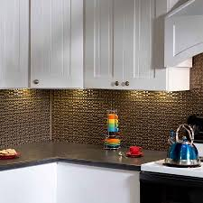 pretty gold color galvanized steel backsplash featuring grey color