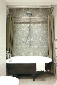 Design Clawfoot Tub Shower Curtain Rod Ideas Ceiling Mount Shower Curtain Rods Styledbyjames Co