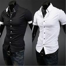 fashion casual men u0027s shirt short sleeve button down slim summer