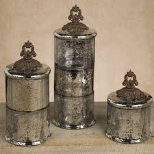 Fleur De Lis Bathroom Fleur De Lis Triple Stacking Mercury Glass Jars Gg Collection