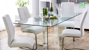 6 Seater Oval Glass Dining Table Geo Glass Clear Rectangle 6 Seater Dining Table Youtube