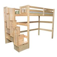 Bunk Bed With Storage Stairs Full Size Heavy Duty Loft Bed With Stair Case Shelf Stair Case