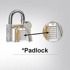3 pack practice lock set geepro crystal visible cutaway of 3 most