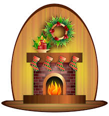 clipart christmas fireplace
