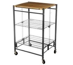 folding kitchen island cart folding island ez fold kitchen cart w metal frame wood top