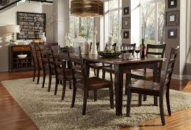 bristol point dining vers a table in oak espresso dining room set