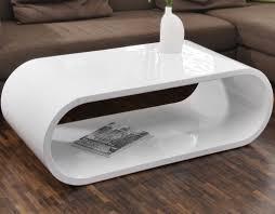 Tisch Im Wohnzimmer Couch Tisch Weiß Hochglanz 120x60cm Aus Mdf Oval Nofin