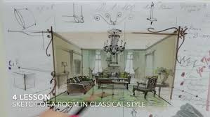 sketching with markers for interior designers online of
