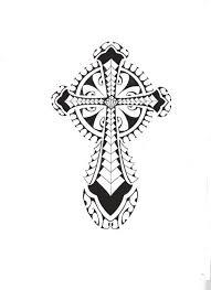tattoo cross tribal design tribal polynesian cross by smekeal00 deviantart com on deviantart