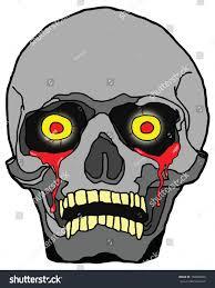 cartoon eerie halloween skull bleeding eye stock vector 148083068