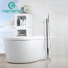 Nieneng Freestanding Bathtub Floor Mount Bath Faucet Royal Club Copper Bathroom Fixtures