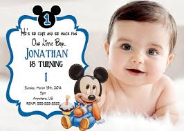 mickey mouse 1st birthday boy mickey mouse 1st birthday invitations best invitations card ideas