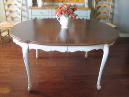 Painted Dining Table by European Paint Finishes Cottage Dining Table