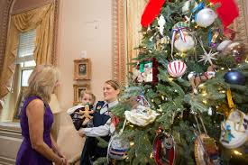 dr jill biden hosts a national guard christmas tree dedication