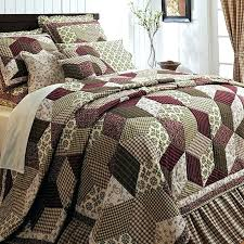 bedroom quilts and curtains burgundy green country paisley block twin queen cal king size
