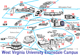 wvu evansdale map directions parking access evansdale library