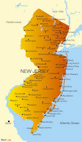 Atlantic City Map New Jersey Map Blank Political New Jersey Map With Cities