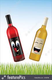 cartoon wine bottle bottle of wines illustration