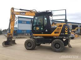 jcb 145w wheeled excavators price 50 000 year of manufacture