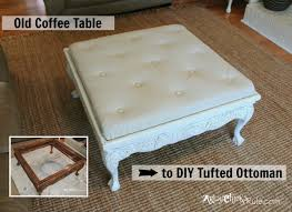 Diy Ottoman Coffee Table Thrift Store Coffee Table Turned Diy Tufted Ottoman Artsy
