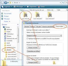 changer icone bureau changer l icône et la miniature d un dossier seven vista xp