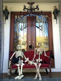 Skeleton Halloween Yard Decoration by Front Doors 35 Best Outdoor Halloween Decoration Ideas Easy