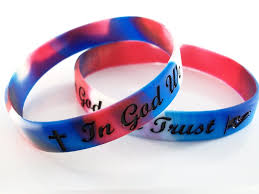 rubber wristband bracelet images In god we trust silicone rubber wristband bracelet christian jpg