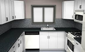 kitchen granite contertops topmount sink microwave white kitchen