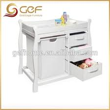 Bath Changing Table Wooden Baby Changing Table With Nursery Cabinet And Baskets Gef Bb