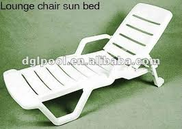 Plastic Beach Chairs Good Quality Plastic Sun Bed Bench Chair Swimming Pool Chaise