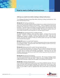 Make A Calling Card - how to start a calling card business guide