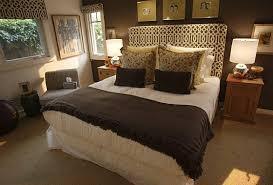 brown bedroom ideas trellis headboard transitional bedroom oc register