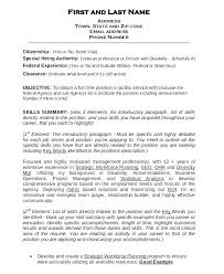 exle resume for government resume sle