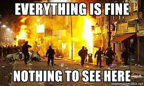 Everything Is Fine Meme - everything is fine nothing to see here everything is fine meme