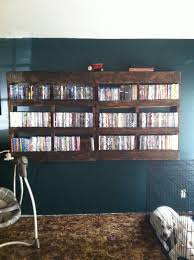 rustic dvd rack