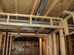 how to build a bulkhead around ductwork round designs