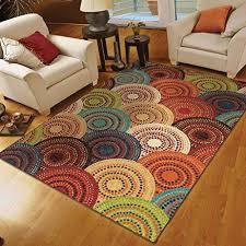 orian rugs circles gomaz multi area rug 7 u00278 u2033 x 10 u002710 u201d area