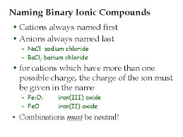 ionic compounds and reactions dr wexler u0027s chemistry