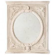 melina french country vintage grey wall mirror kathy kuo home