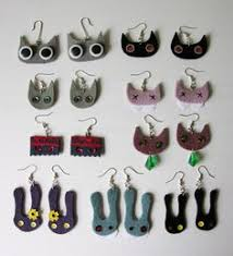 felt earrings crisssa toma felt earrings my work crissa toma