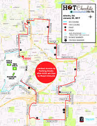 Marta Atlanta Map Parking Chocolate 15k 5k Atlanta