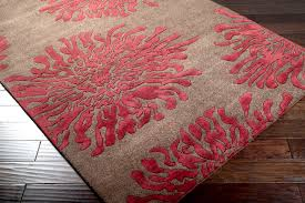 Red And Turquoise Area Rug Contemporary Floral Area Rugs Roselawnlutheran